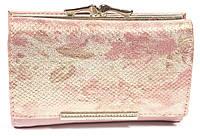 Оригинальный компактный женский кошелек с очень качественной кожи LOUI VEARNER art. LOU008-2063D розов перелив, фото 1