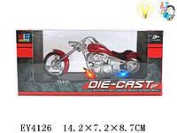 Детские игрушки, мотоцикл, металлический, масштаб 1:18. Мотоцикл металл 1:18 251A5 +звук +свет. Для мальчиков