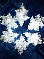 Бутоньерки для жениха- невесты с колечками - 2 шт