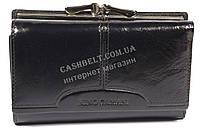 Оригинальный компактный женский кошелек с очень качественной кожи NINO CAMANI art. NC108-03A черный