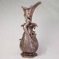 """Элегантная ваза для цветов с бронзовым покрытием """"Девушка в мечтах"""" 45 см элитные подарки"""