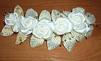 Свадебная веточка в прическу невесты ШАМПАНЬ-Роза