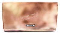 Оригинальный небольшой женский кошелек с очень качественной кожи H.VERDE art. 2345-D53 розовый мрамор