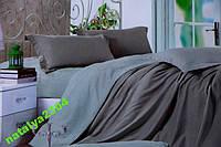 Сатиновое однотонное постельное белье Евро размера E-Comfort