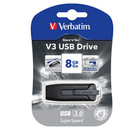 Флешка VERBATIM SuperSpeed V3, USB 3.0, 8 GB, серый, фото 1