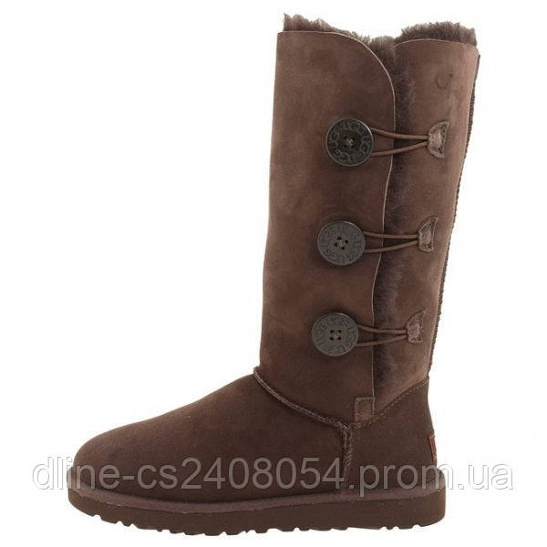 UGG Tall Bailey Button Triplet Chocolate
