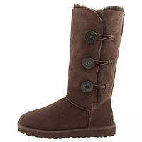UGG Tall Bailey Button Triplet Chocolate, фото 1