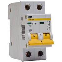 Автоматический выключатель ВА47-29 2P, 2 A, D IEK