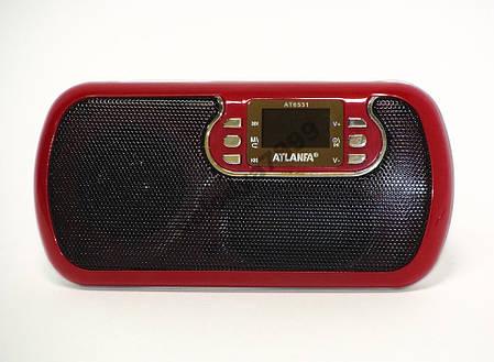 Радиоприёмник Atlanfa АТ-6531 USB/FM/SD, фото 2