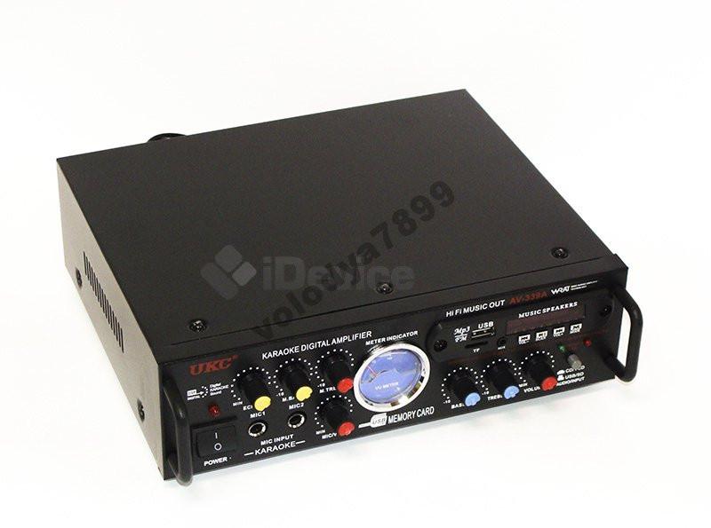 Стерео усилитель UKC AV-339A Karaoke USB/FM/SD