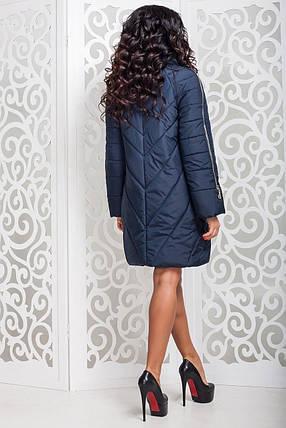 Теплая женская демисезонная куртка р. 44-58 арт. 970 Тон 18, фото 2