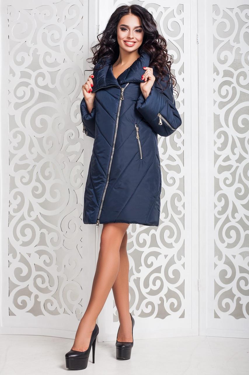 Теплая женская демисезонная куртка р. 44-58 арт. 970 Тон 18