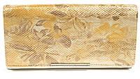 Оригинальный гламурный женский кошелек с очень качественной кожи LOUI VEARNER art. LOU38-305C золотой перелив