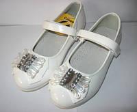 Нарядные белые туфли для девочки. р. 34-35 (арт. D332)
