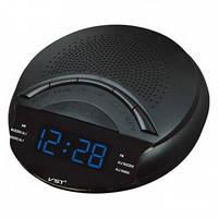 Часы сетевые VST 903-5 синие, радио FM