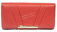 Стильный прочный женский кошелек с очень качественной кожи CAFFIER art. CF43-305B красный, фото 1