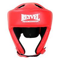 Шлем боксерский защитный Reyvel винил М красный