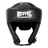 Шлем боксерский Reyvel винил черный М