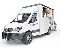 Игрушка Bruder Mercedes Sprinter фургон c фигуркой лошади (02533)
