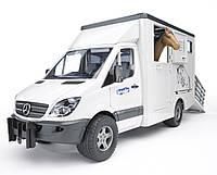 Игрушка Bruder Mercedes Sprinter фургон c фигуркой лошади (02533)  , фото 1