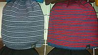Яркая полосатая мужская шапка  в расцветках