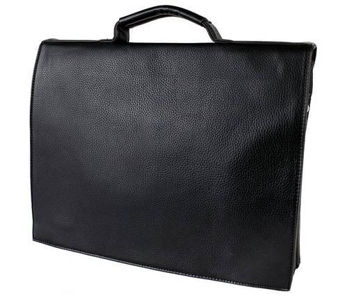 1a739a3747d5 Мужская сумка-портфель из экокожи через плечо формата А4 черная, фото 2
