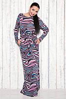 Платье макси ангора очень теплое длинное 46 размер