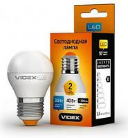 Лампочка LED 3.5 Вт E27 4100K 220В VIDEX VL-G45e-35274