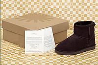 Ботинки женские короткие UGG натуральный мех, натуральная замша