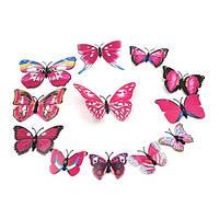 Объемные бабочки для декора розовые.