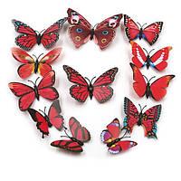 3D бабочки для украшения красные.