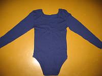 Купальник для гимнастики с длинным рукавом темно-синий.SP27080.