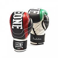 Кожаные боксерские перчатки 10 oz Revolution Leone черный