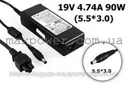 Блок живлення для ноутбука Оригінальний Samsung 19v 4.74 a 90w (5.5/3.0) AD-9019, R50 R55 R65 T10 GT6000 GT6330