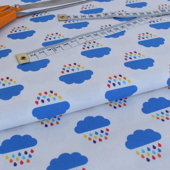 ✁ Отрез ткани Rainbow Clouds 50*50 см
