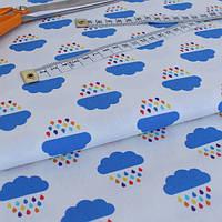 ✁ Отрез ткани Rainbow Clouds 50*50 см, фото 1