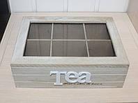 """Деревянная шкатулка для чая """"Домашний уют"""". Подарки в стиле Прованс"""