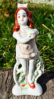 Коллекционная скульптура,Девочка с бантиком!РЕДКАЯ
