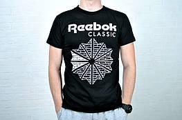 Размер S, M !!!! Футболка мужская  Reebok хлопок черная / рибок