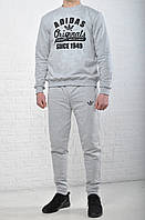 Мужской спортивный трикотажный костюм Adidas черный  адидас / адидас