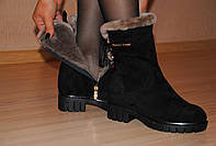 Женские Ботинки из замши зима