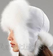 Женская теплая шапка ушанка