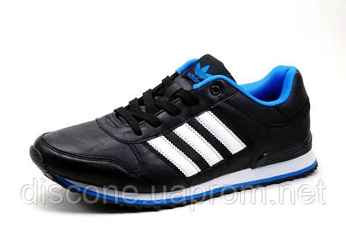 Кроссовки Adidas, мужские, черные с белым