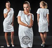 Платье из парчи с кружевом