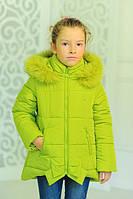 "Зимняя куртка на девочку ""Бант"", фото 1"