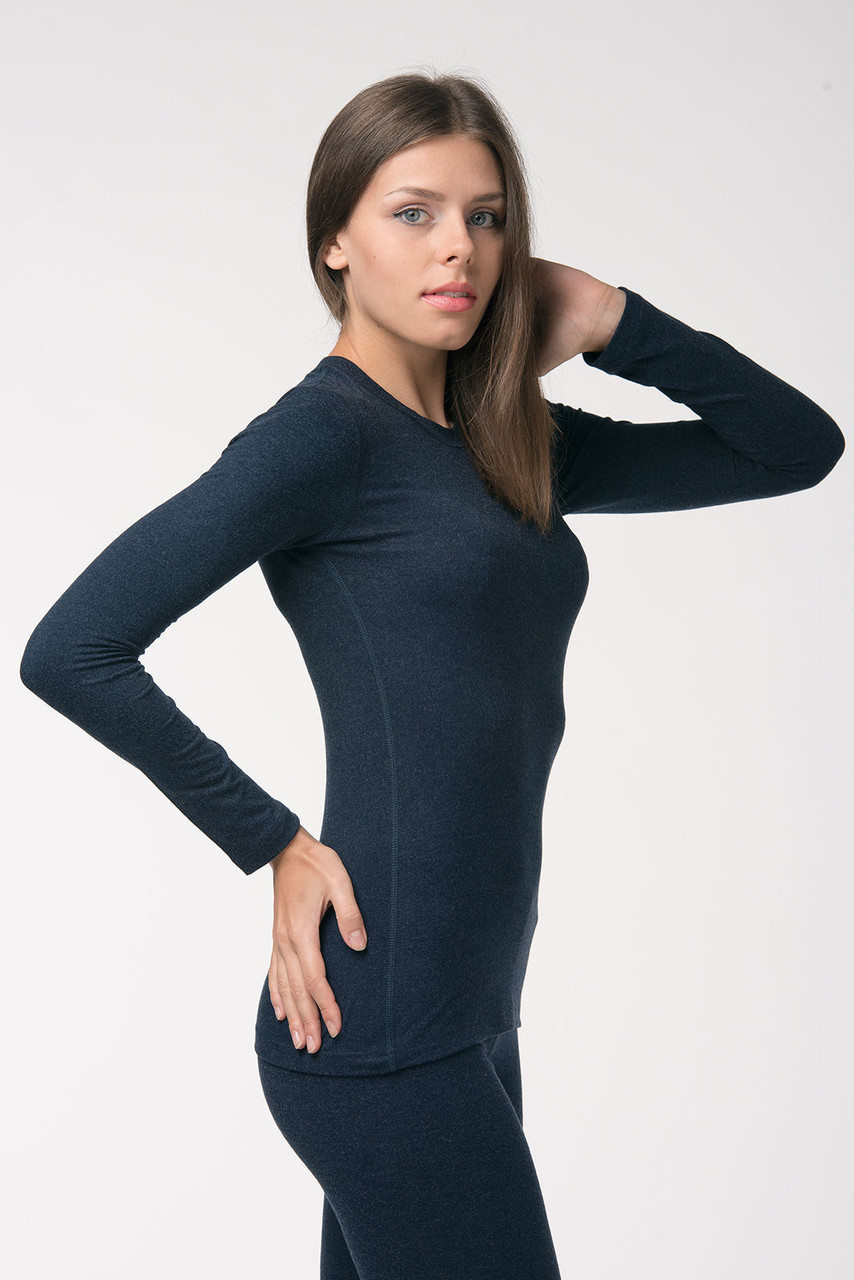 Термокофта женская Kifa темно-синяя, термобелье женское