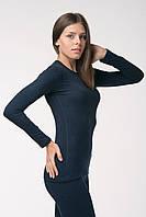 Термокофта женская Kifa темно-синяя, термобелье женское, фото 1