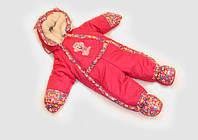 Детский зимний комбинезон на овчине для девочки
