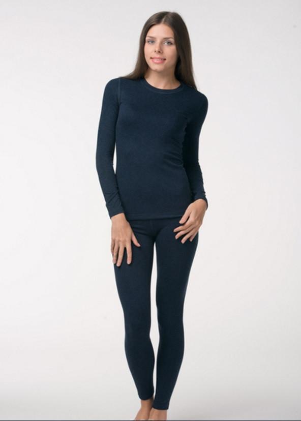 Женское термобелье Kifa темно-синие, комплект термобелья