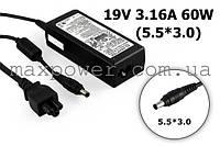Блок питания для ноутбука Оригинальный Samsung 19v 3.16a 60w (5.5/3.0) AD-6019, R423 R428 R429 R430 R431 R439